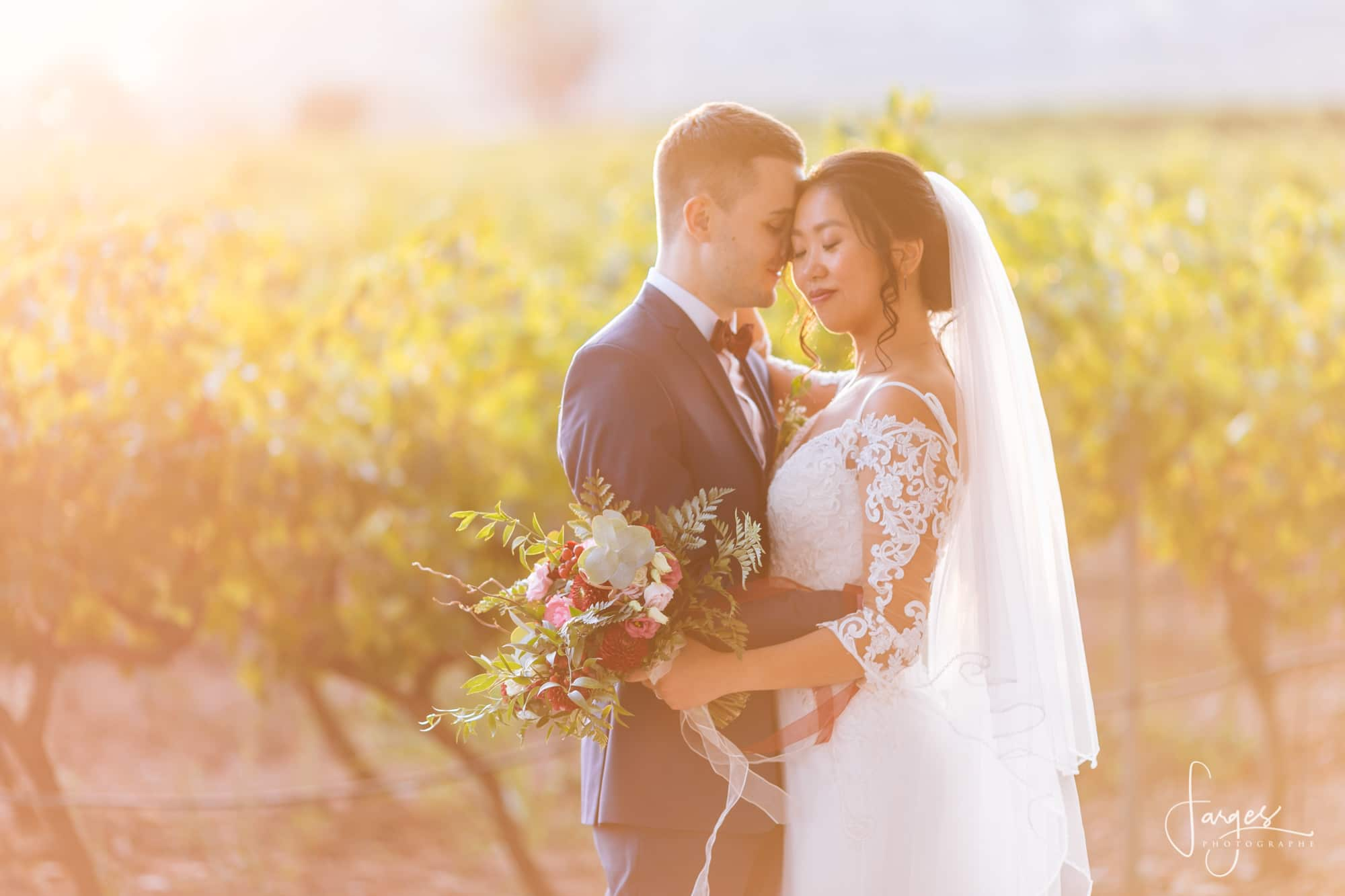 bride-groom-couple-vines-vineyard-wedding-chateau-venue-reception-south-france-provence-magic