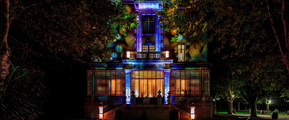chateau-nuit-eclairage-platanes-verriere-provence-salon-lancon-aix-marseille-lieu-evenement-soiree